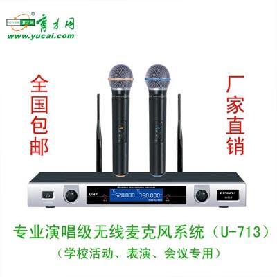 BB平台网-恒达 高级舞台表演专业无线话筒麦克风系统U-713 一拖二 货号51120